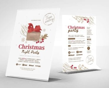 Ornate Christmas Flyer/Table Tent Templates