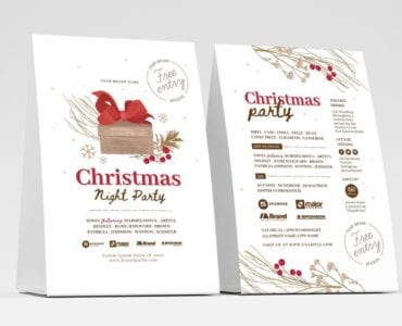 Rustic Christmas Menu Flyer Templates