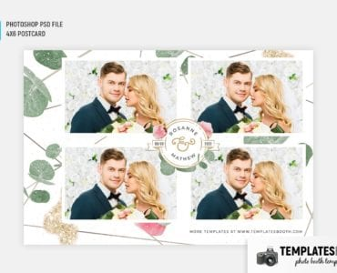 Rustic Wedding Photo Booth Template (4x6 postcard)