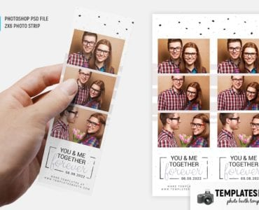 Together Forever Photo Booth Template (2x6 photo strip)