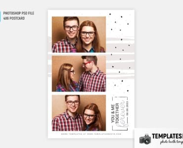 Together Forever Photo Booth Template (4x6 postcard)