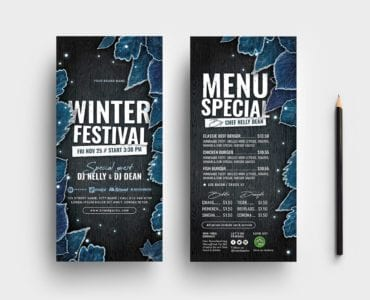 Winter Flyer Templates - DL Cards