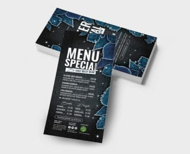 Winter Flyer Templates - DL Card