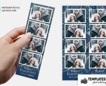 Winter Festival Photo Booth Template (2x6 photo strip)