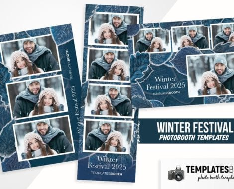 Winter Photo Booth Template
