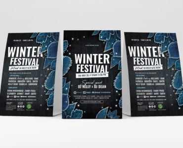 Winter Flyer Templates - Table Tent