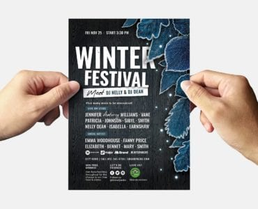 Winter Flyer Templates - Back