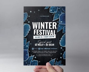 Winter Flyer Templates - Front