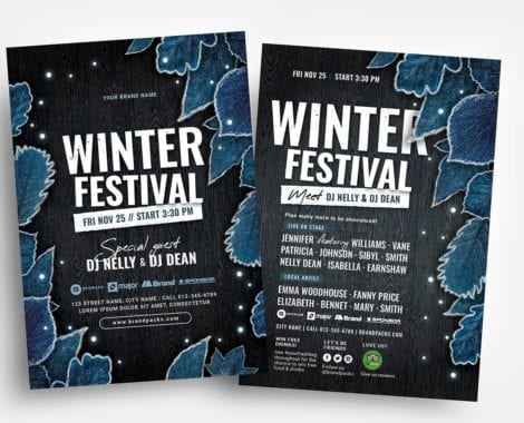 Winter Flyer Templates - PSD & Vector