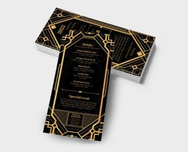 Art Deco DL Card Template (Back)