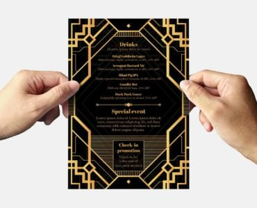 Art Deco Party Flyer Template (Back)