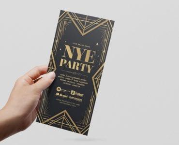 Art Deco Party DL Flyer Template (Front)