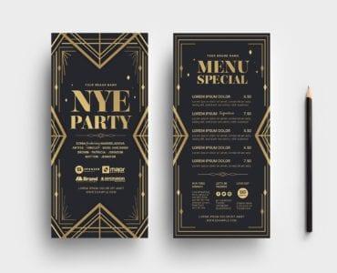 Art Deco Party DL Flyer Templates