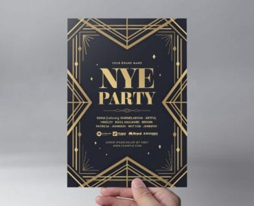 Art Deco Party Flyer Template (Front)