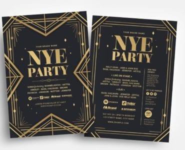 Art Deco Party Flyer Templates