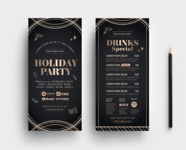 Holiday Party DL Card Templates