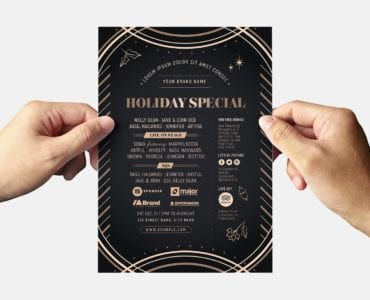 Holiday Party Flyer Template (back)