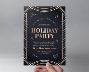 Holiday Party Flyer Template (front)