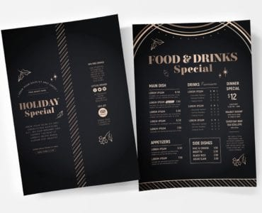 Holiday Party Poster Templates