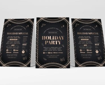 Holiday Party Table Tent Templates