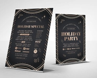 Holiday Party Table Tent Templates (back)