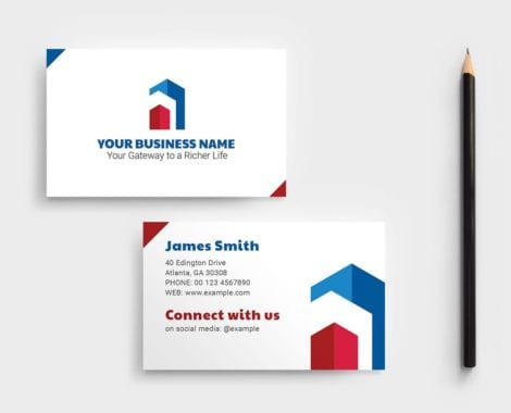 Real Estate Business Card Template Vol.3
