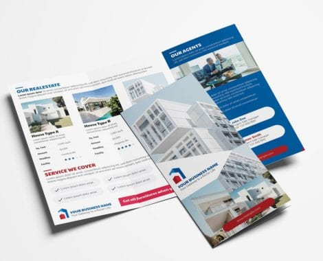 Real Estate Tri-Fold Brochure Template Vol.3