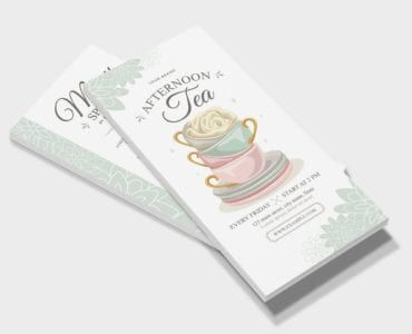 Afternoon Tea DL Card Template (Front)