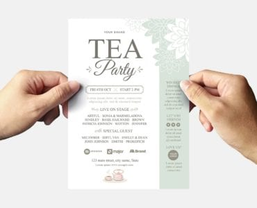 Afternoon Tea Flyer Template (Back)