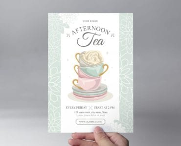 Afternoon Tea Flyer Template (Front)