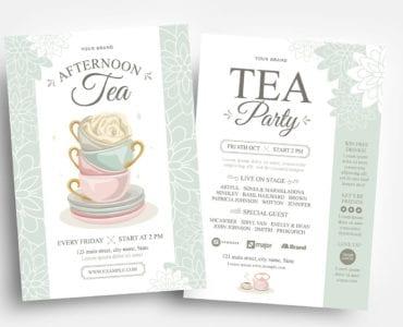 Afternoon Tea Flyer Templates