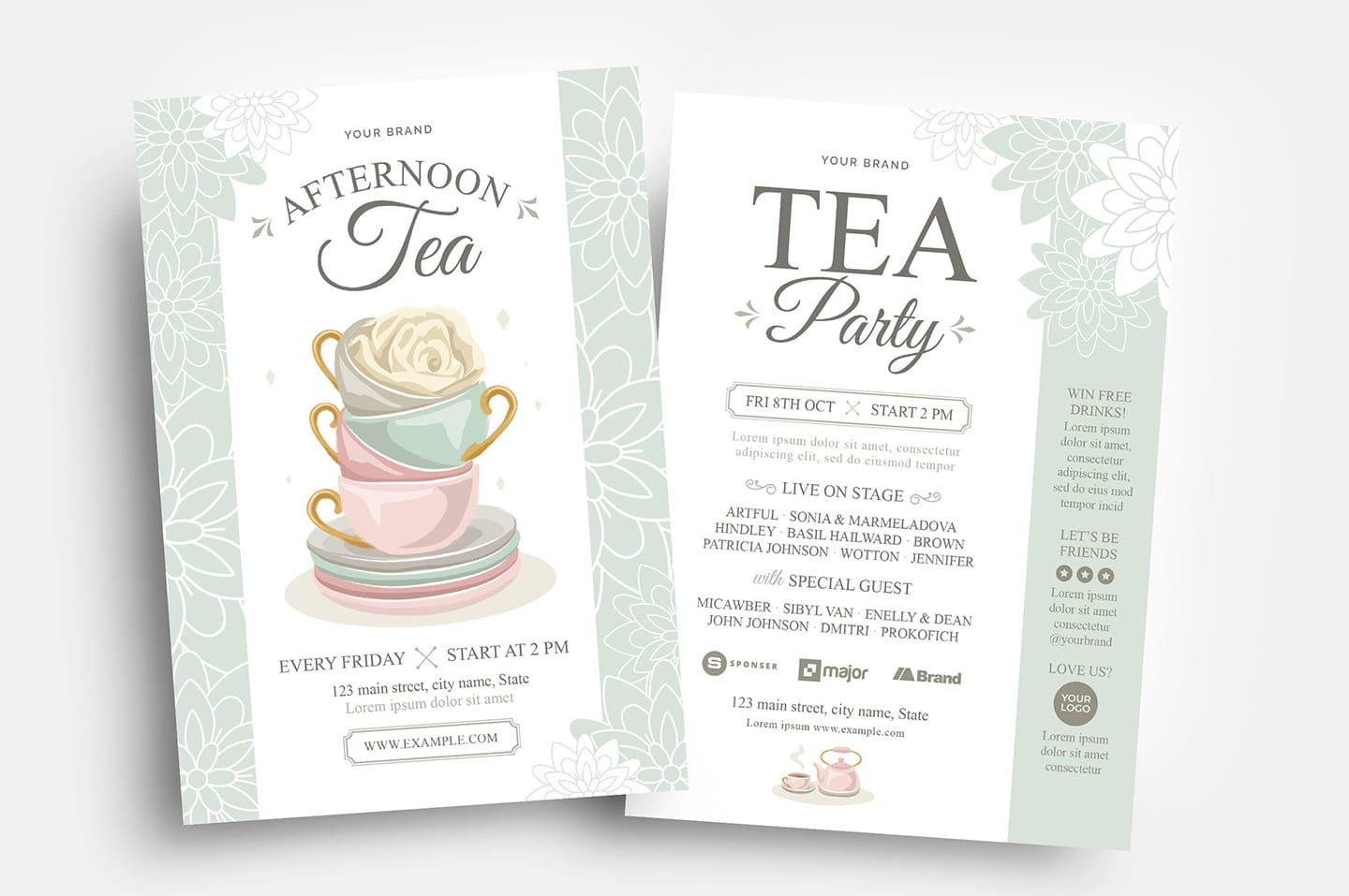 Afternoon Tea Flyer Templates
