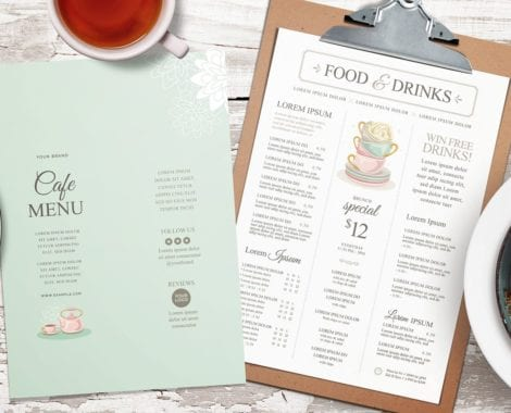 Afternoon Tea Menu Template