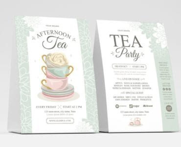 Afternoon Tea Flyer Template (table tent)