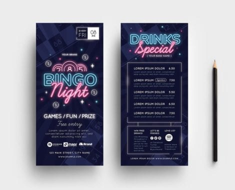 Bingo Night DL Card Templates