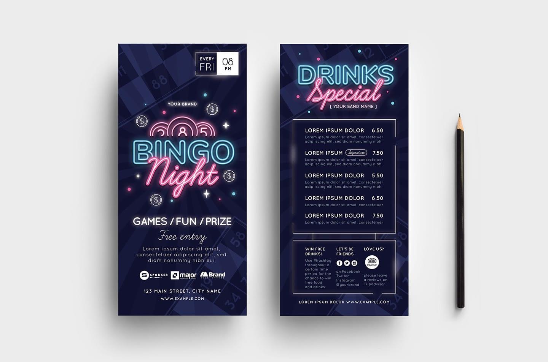 Bingo Night DL Card Templates