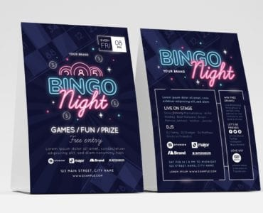 Bingo Flyer Template / Table Tent