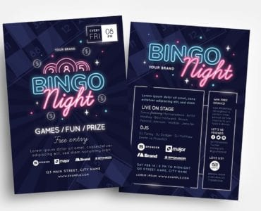 Bingo Flyer Templates