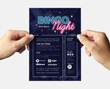 Bingo Flyer Template (back)
