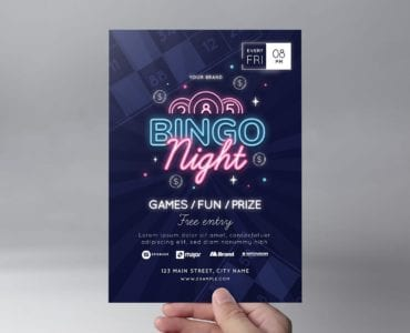 Bingo Flyer Template (front)
