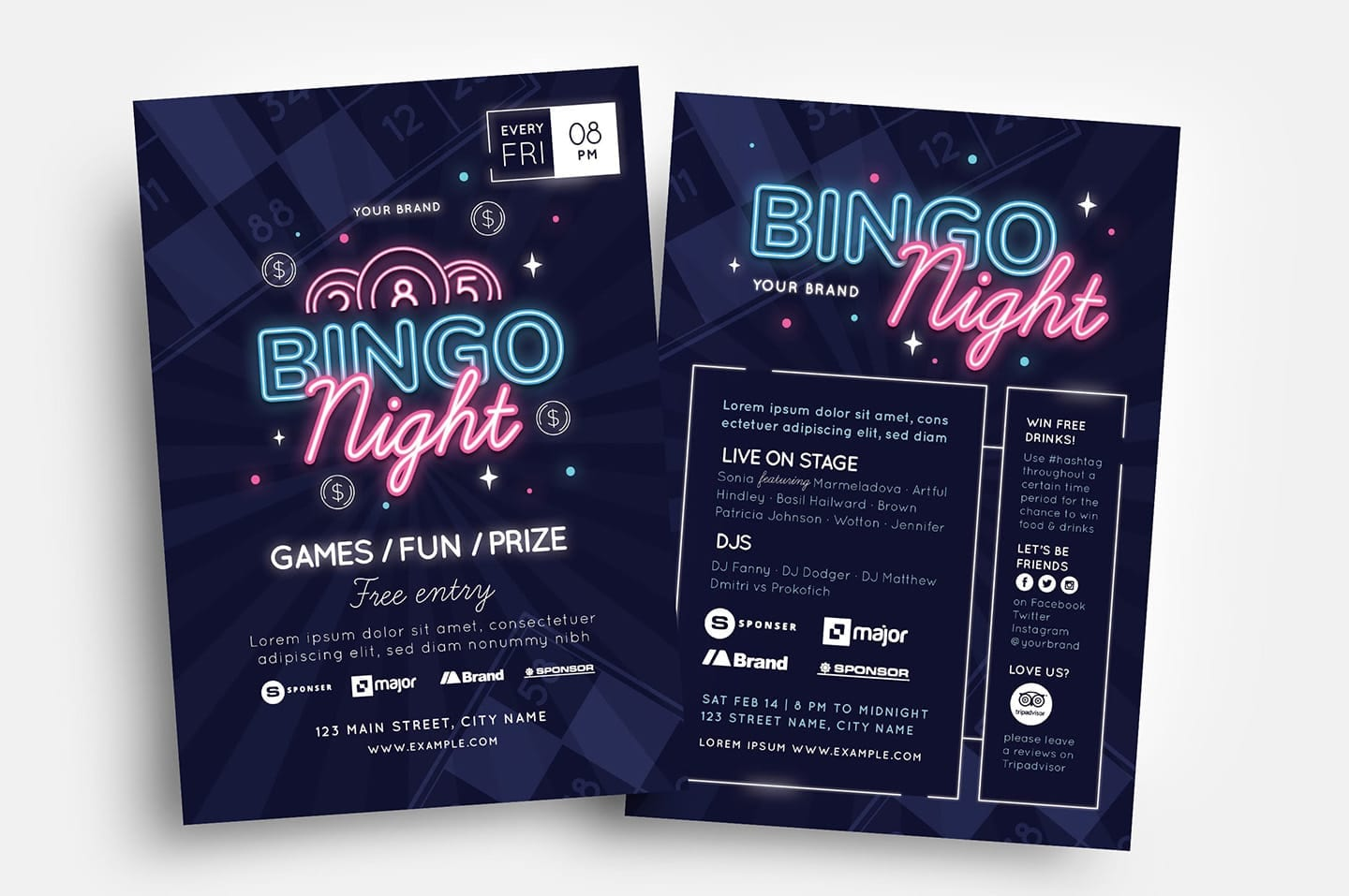 Bingo Flyer Templates