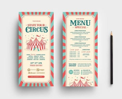 Circus DL Rack Card Template
