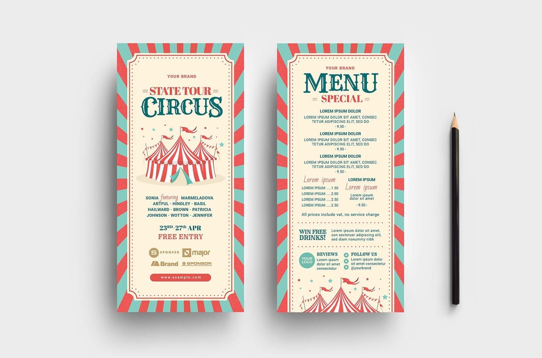 Circus DL Rack Card Template