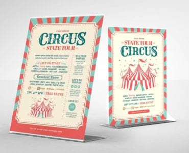 Circus Flyer Template (Table Tent Back)