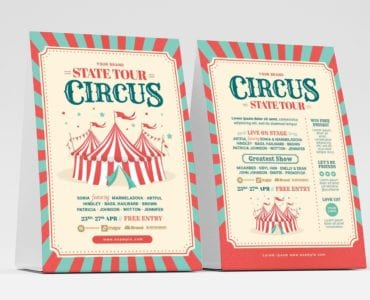 Circus Flyer Template (Table Tent Front)