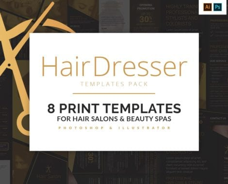 Hair Dresser Templates Pack