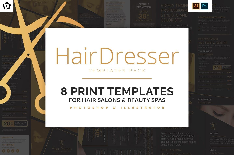 Hair Dresser Templates Pack