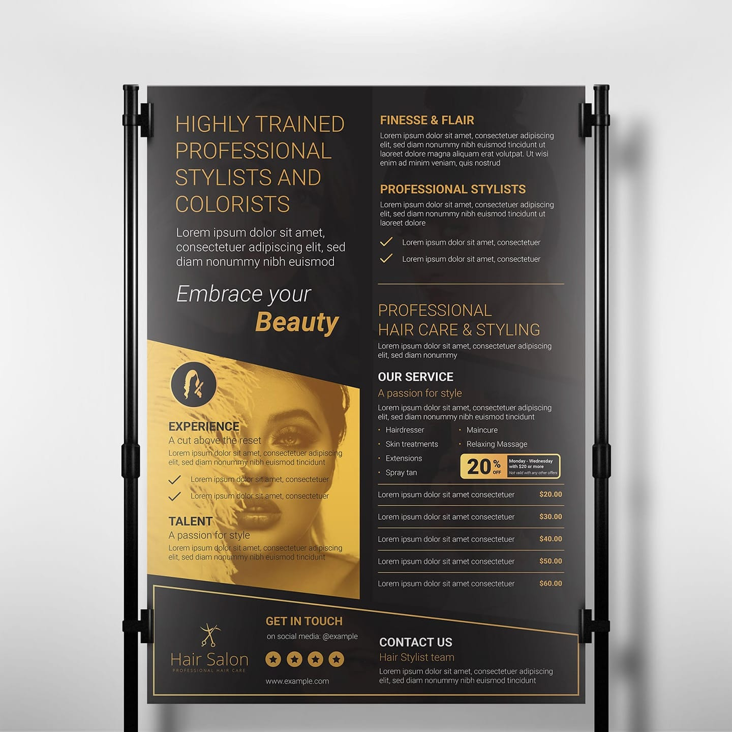 Hair Salon Banner Poster Template Psd Ai Vector Brandpacks