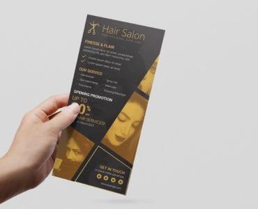 Hair Dresser DL Card Template