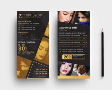 Hair Dresser DL Card Template